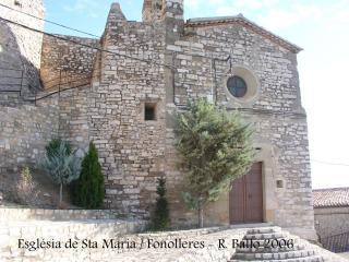 Fonolleres: Església parroquial de Santa Maria.