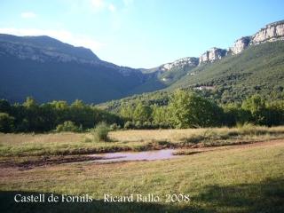 Camí al Castell de Fornils - Lloc on hem aparcat.