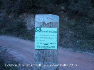 Camí al Dolmen de Serra Cavallera