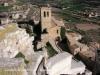 Guimerà - Vistes de l\'església parroquial de Santa Maria des de les restes del castell de Guimerà.