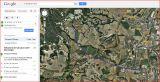Castell de Gurb-Itinerari-Google Maps amb anotacions manuals.