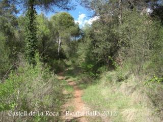Castell de La Roca. Camí a peu.