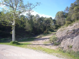Castell de La Roca. Lloc on hem aparcat.