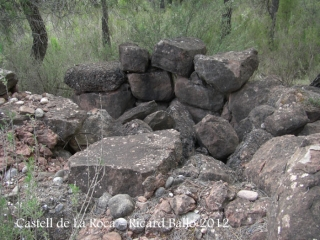 Castell de La Roca. Possibles restes d'una torre ?