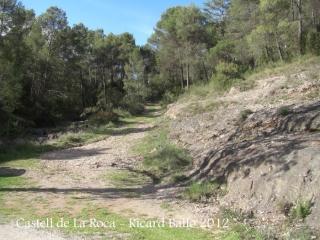 Castell de La Roca. Inici camí a peu.