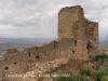 Restes de la darrera torre en peu formant part d'un llençol de la muralla interior. Sota d'aquest tròs de muralla, a l'espai interior, es suposa que hi havia el còs de guàrdìa. Es pot veure-hi un forn, reconstruit. Dins de la torre hi havia una cisterna d'aigua.
