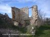 Castell de Malacara - Restes d\'unes construccions situades al davant del castell.