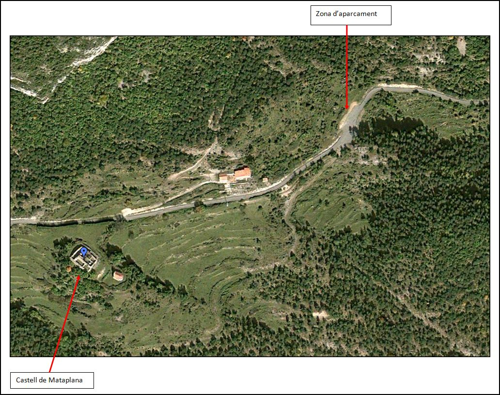 castell-de-mataplana-itinerari-google-maps-3-zona-daparcament