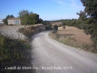 Castell de Mont-ros - Inici itinerari, des de Sant Ramon.