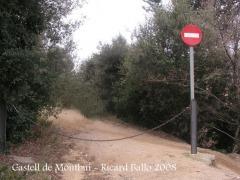 Castell de Montbui: Inici pista a peu.