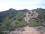 Castell de Montclar: Vistes des de la carena.