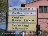 Castell de Montclús - Cartells informatius.