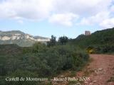 Castell de Montmany - Camí d'accés. L'edificació ja és visible.