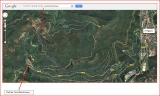 Castell de Montmany - Detall itinerari - Captura de pantalla de Google Maps, complementada amb anotacions manuals.