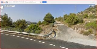 Castell de Montoliu - Captura de pantalla de Google Maps