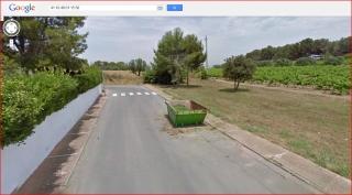 Castell de Penalonga-Itinerari - Captura de pantalla de Google Maps - carrer dels Ceps, lloc on hem aparcat.