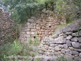 Camí al castell de Prenafeta. Restes de l'antic poblat de Prenafeta.