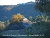 Castell de Querol - Montmajor - En aquesta fotografia, el sol encara il·lumina tènuement el castell