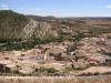 Vistes de Sanaüja des de les restes del castell de Sanaüja