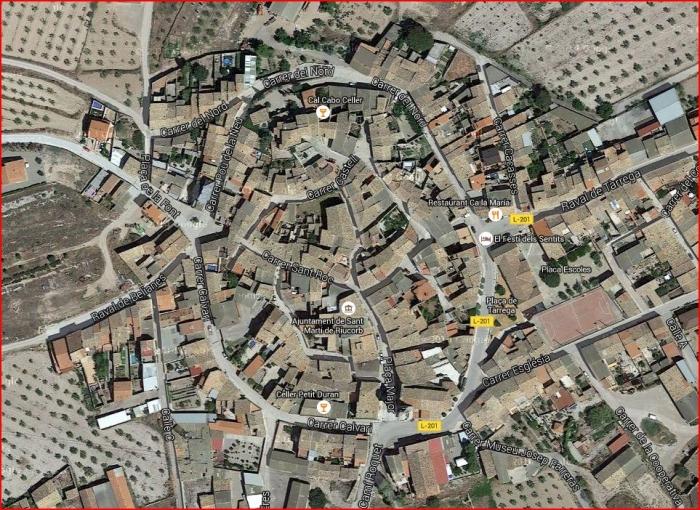 Sant Martí de Maldà - Captura de pantalla de Google Maps