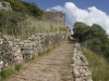 Castell de Santa Àgueda-Ferreries/Menorca - Calçada romana original.