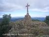 Creu de les Guilleries, edificada sobre les restes de la torre del castell de Solterra.