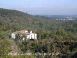 Castell de Vila-romà. L'ermita de Bell-lloc vista des del castell.