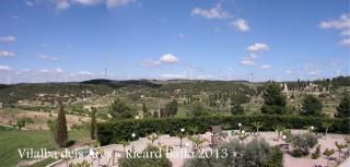 Vilalba dels Arcs - Sorprenent la quantitat d'aerogeneradors elèctrics que apareixen en aquesta fotografia.