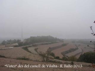 """""""Vistes"""" des del Castell de Vilalta – Sant Guim de Freixenet."""