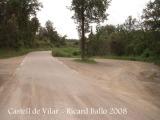 Castell de Vilar - carretera d'accés.