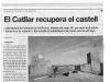 """Castell del Catllar - Informació extreta del diari \""""El periódico de Catalunya\"""" - edició del dia 04/02/2008."""