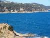 Castell d'en Plaja- Lloret de Mar - A l'esquerra de la fotografia la penya on hi ha el monument a la Dona Marinera.