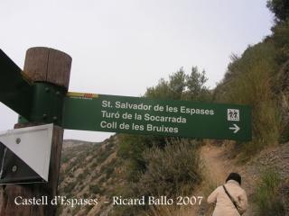 Castell d'Espases-Inici ruta a peu.