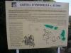Castell d'Esponellà / Pla de l'Estany - Cartell informatiu de generoses proporcions situat davant de l'edificació.
