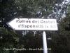 Castell d'Esponellà / Pla de l'Estany - Cartell informatiu que ens indica la proximitat de l'edificació.