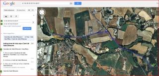Castell d'Heures - Itinerari - Captura de pantalla de Google Maps.