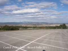 Olèrdola - Muralla romana -Zona d'aparcament