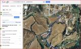 Castell d'Olost - Itinerari - Captura de pantalla de Google Maps, complementada amb anotacions manuals.