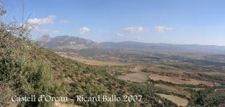 Vista panoràmica des del castell d'Orcau.