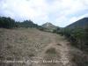 Castell d'Orenga - Inici camí. A l'esquerra es veu la Torre de Mataperunya.