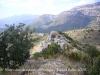 Vistes des del castell d'Orenga - Es veu la Torre de Mataperunya.