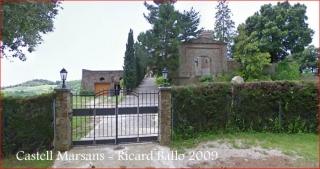 Castell Marsans - Porta d'entrada - Captura de pantalla de Google Maps.