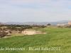 A l\'esquerra de la fotografia, el castell de l\'Aranyó. A la dreta, el castell de Montcortès