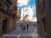 Catedral de Tarragona - A la dreta, en obres, la Casa de la Pia Almoina o també dita, la Rectoria.