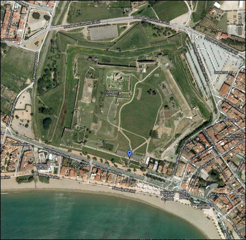 ciutadella-de-roses-google-maps