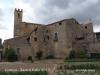 Conesa - En primer terme l'hort dels Frares - Al darrere, l'Església parroquial de Santa Maria