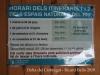 Espais naturals del Delta del Llobregat – Prat de Llobregat - Horari dels itineraris - a 3/5/2019 - Consultar possibles canvis .