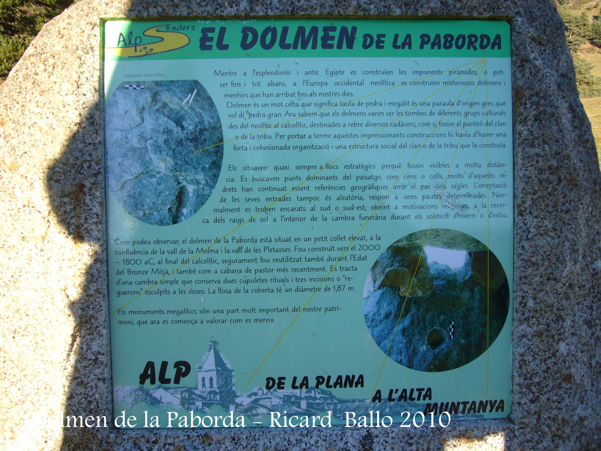 Dolmen de la Paborda - Alp.