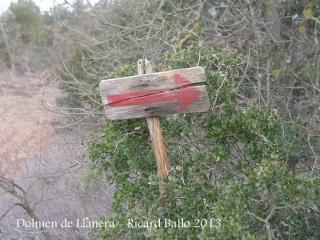 Dolmen de Llanera - Camí d'accés.