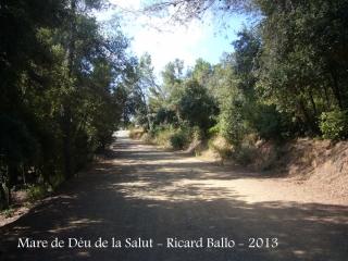 Ermita de la Mare de Déu de la Salut – El Papiol - Una vista del camí que cal fer a peu.